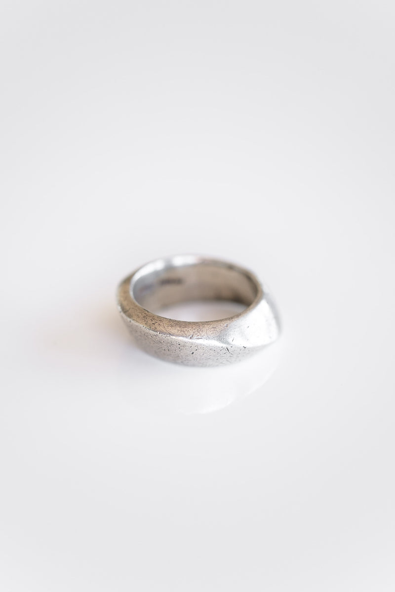 HEAVY SILVER MODERNIST RING