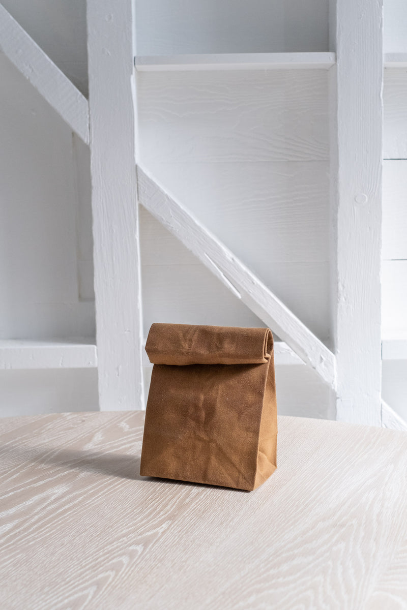 WAXED BROWN BAG