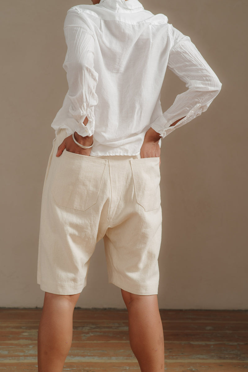 JAN-JAN-VAN-ESSCHE-HEMP-WIDE-LEG-SHORTS#8