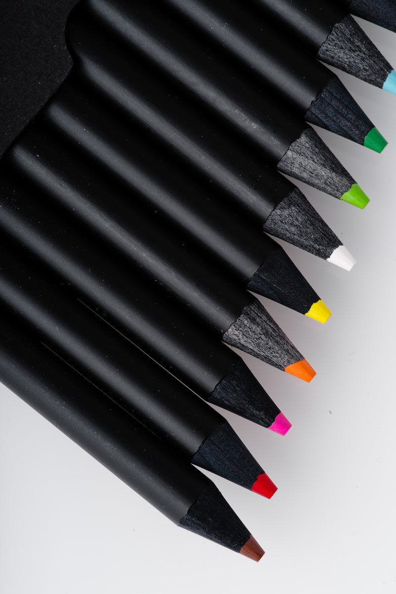 Eyeball | BLACK COLORED PENCIL SET