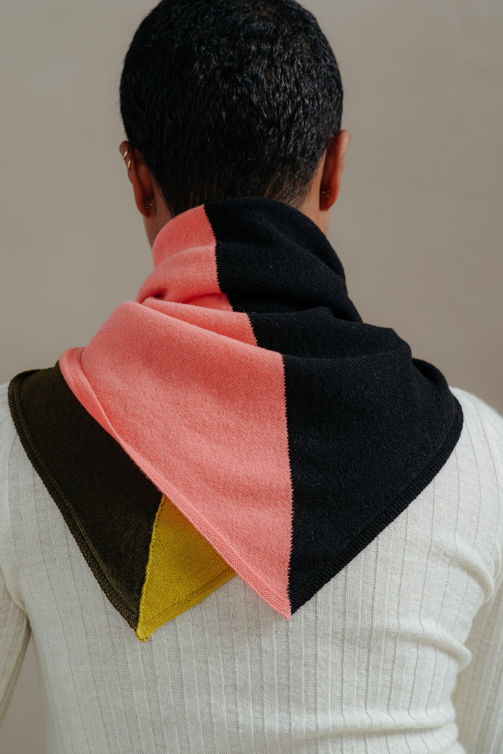 Jo Gordon | MULTICOLOR QUARTER SQUARE NECKERCHIEF