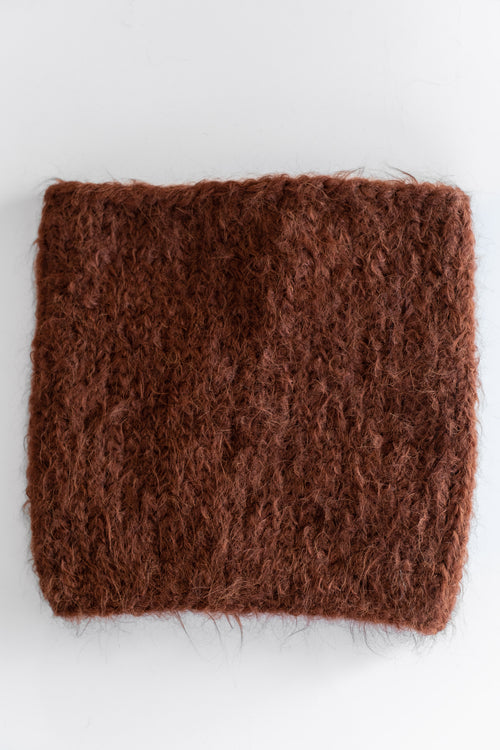 ALPACA SNOOD IN BROWN