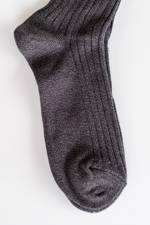 ATHLETIC SOCKS IN BLACK MELANGE
