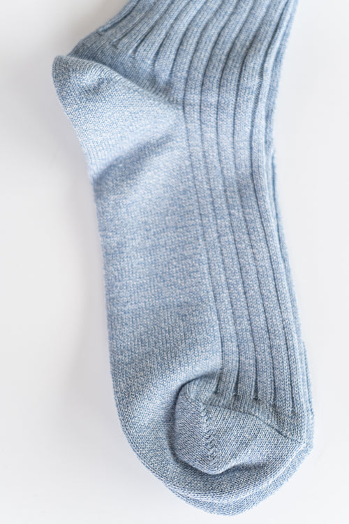 ATHLETIC SOCKS IN LIGHT BLUE