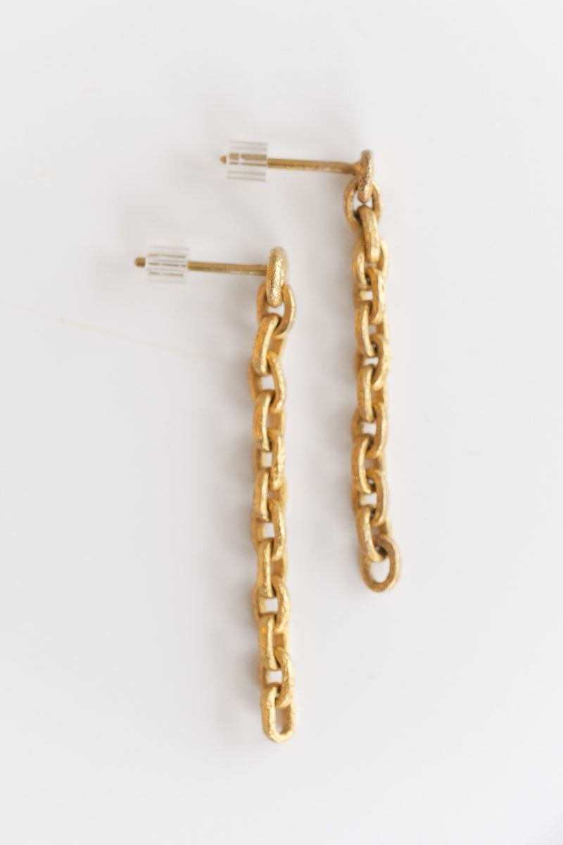 22K CHAIN EARRINGS