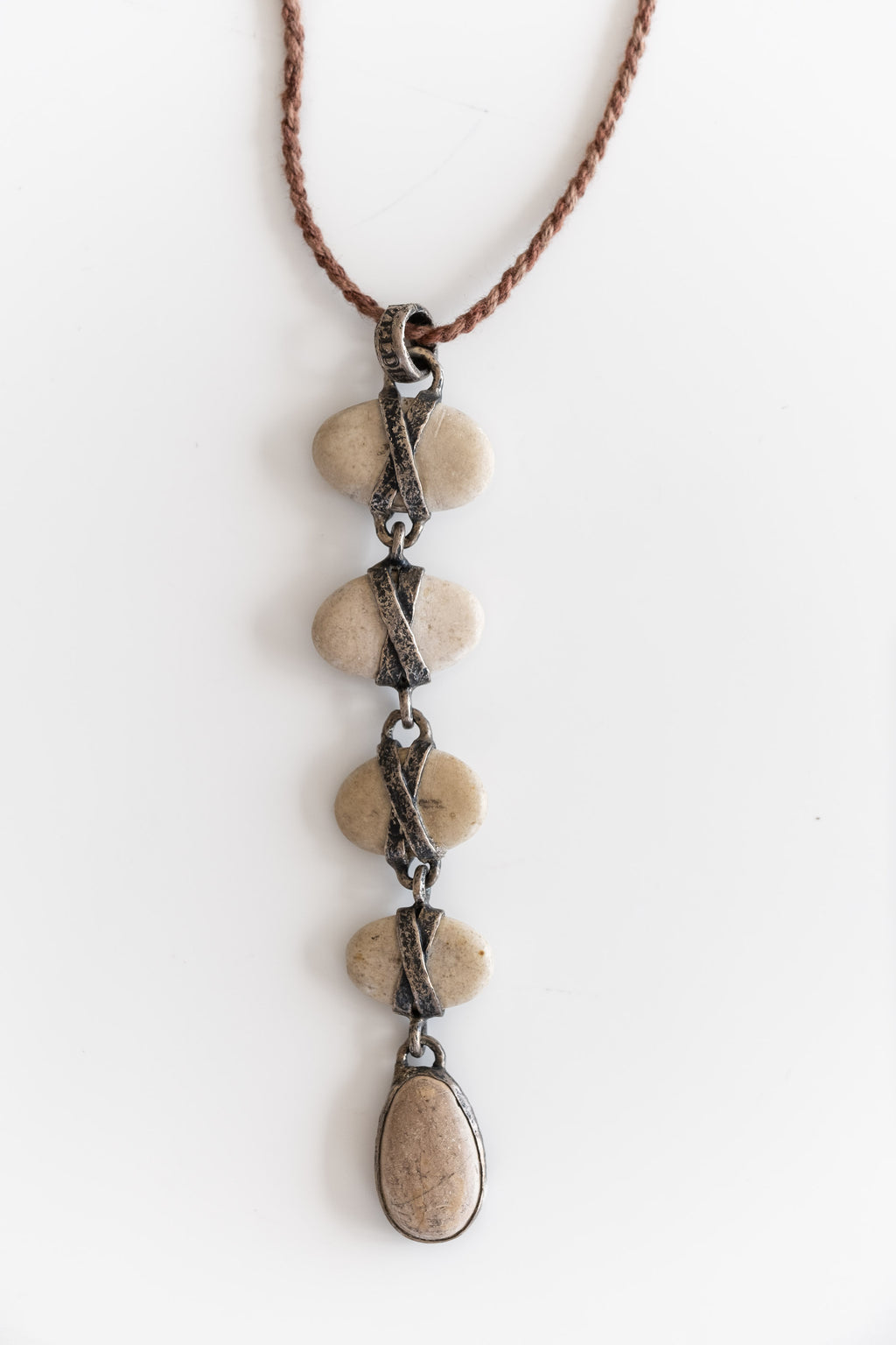 5 DROP JAPANESE PEBBLE NECKLACE