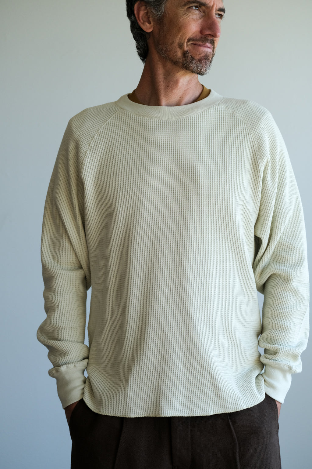 CROPPED RAGLAN THERMAL