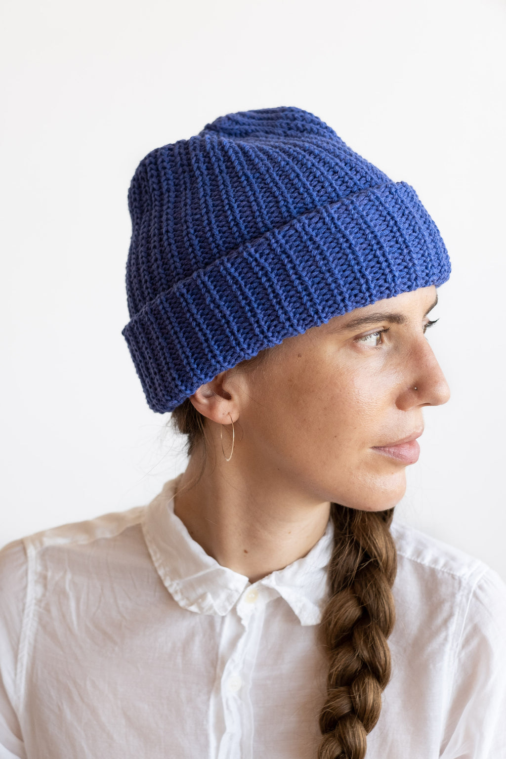 KNIT HAT IN LAPIS