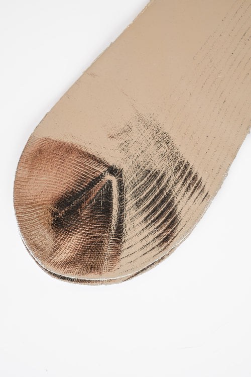 RIBBED SILK LAMINATED SOCKS
