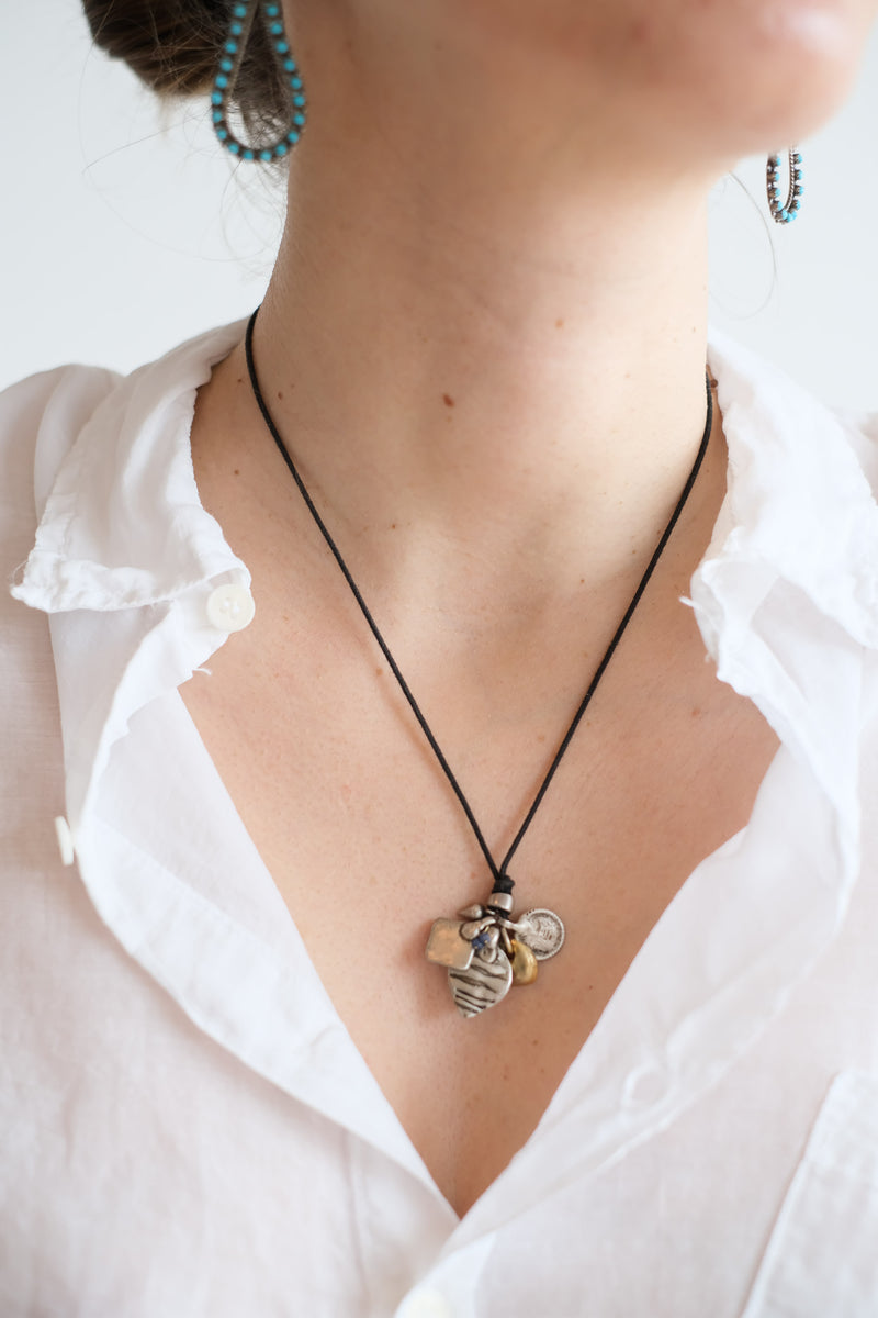 MINETTA CHARM CLUSTER NECKLACE