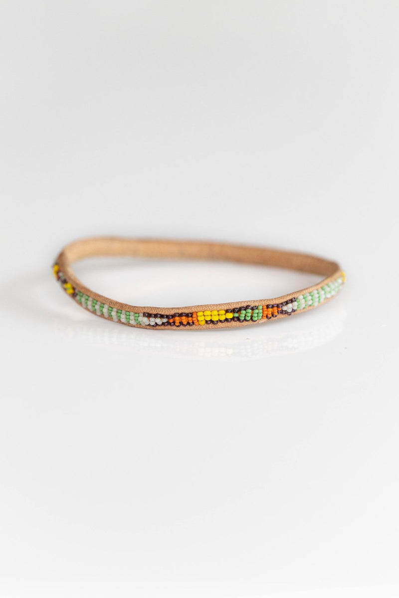 MALI BEADED BANGLE NO. 6