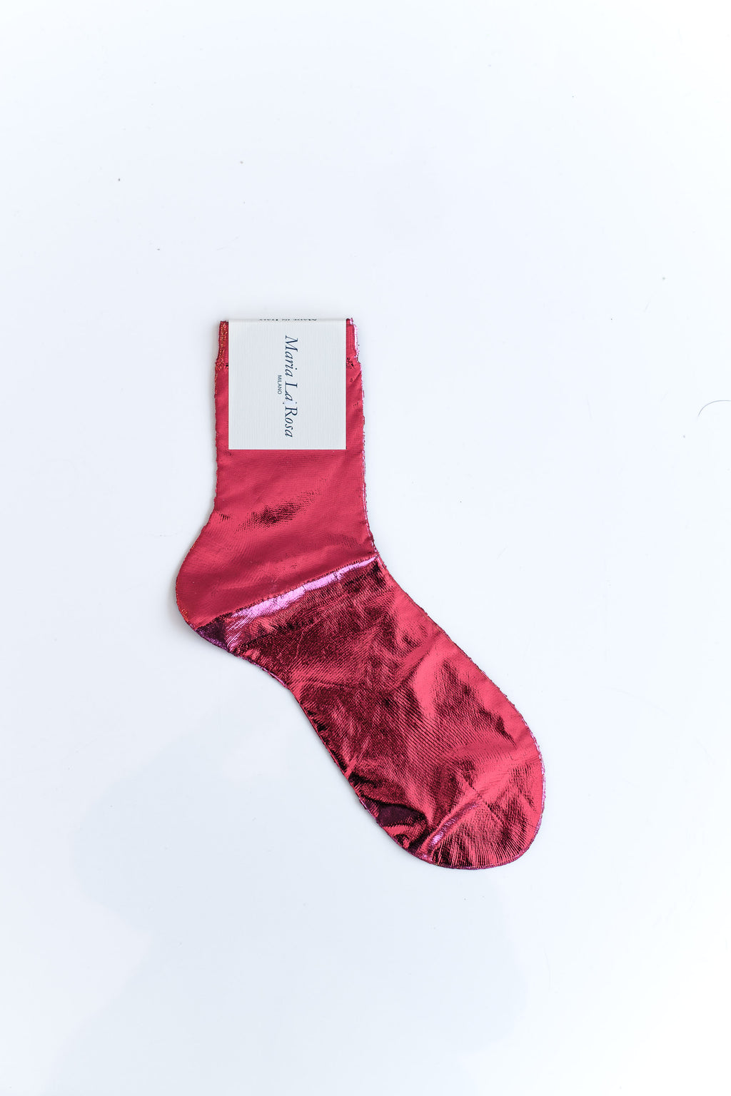LAMINATED SOCKS IN ROSA