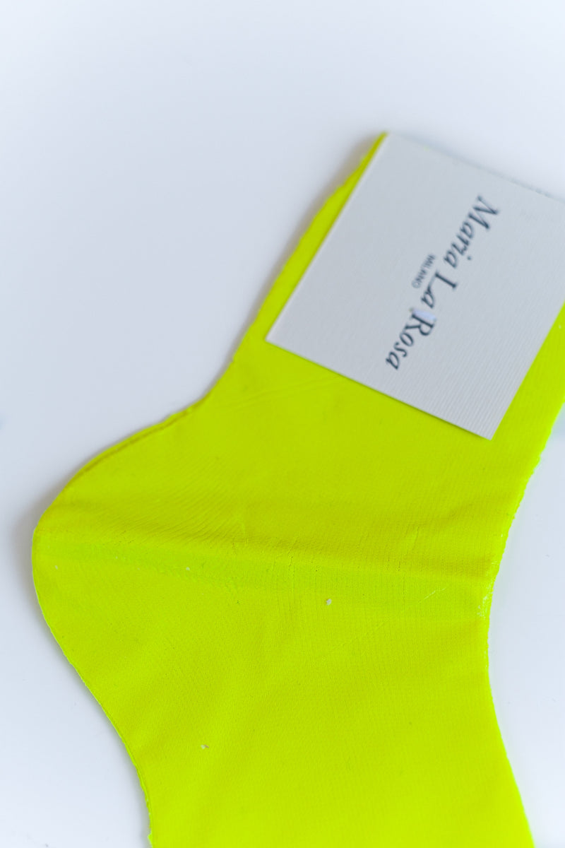 LAMINATED SOCKS IN FLUORESCENT YELLOW