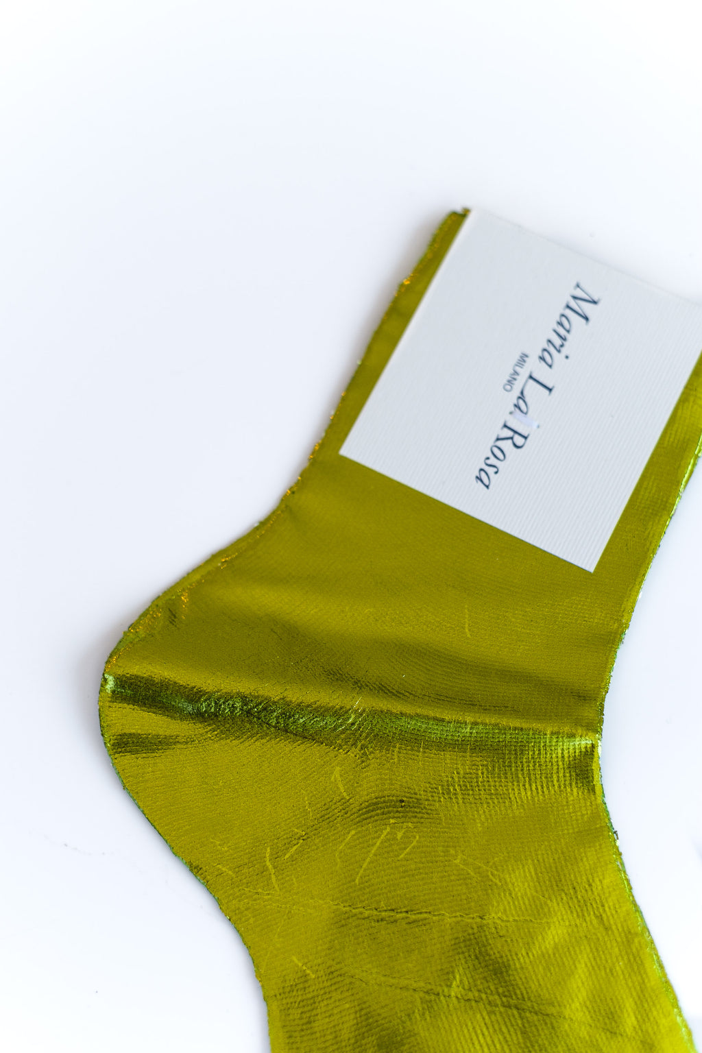 LAMINATED SOCKS IN LIME