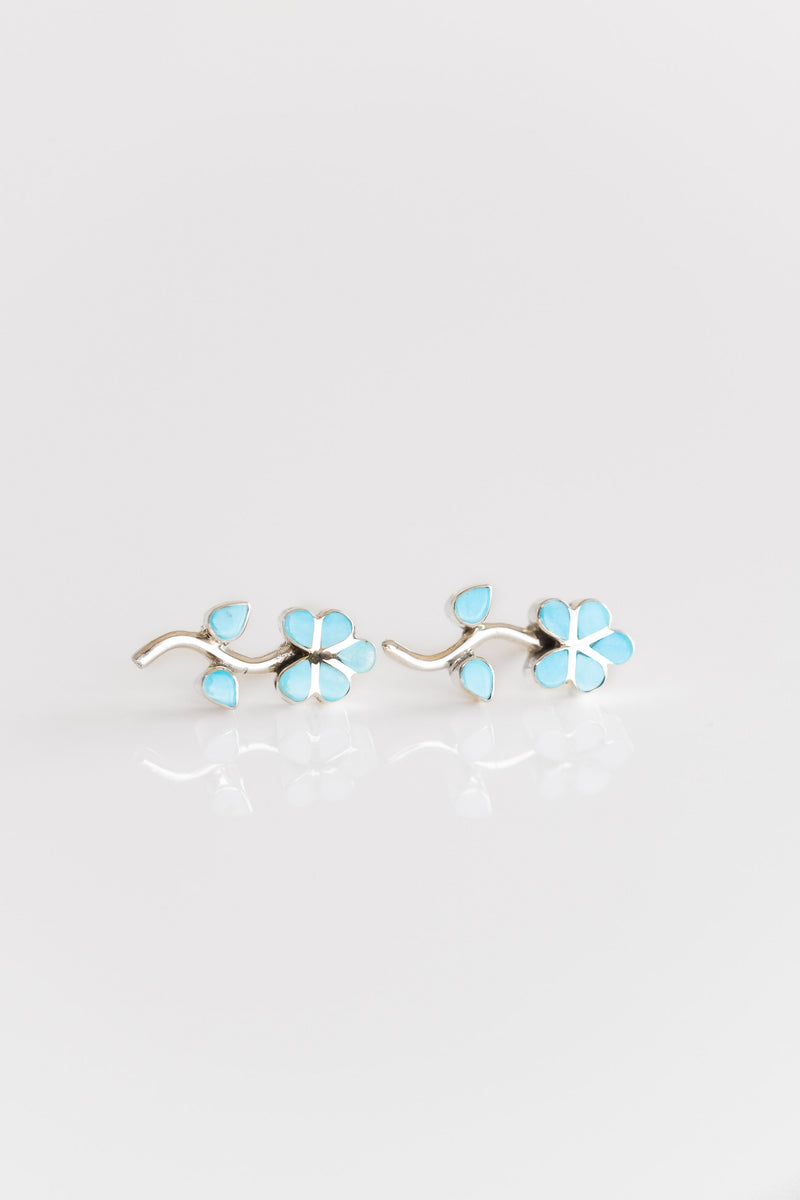 TURQUOISE INLAY DAISY STUDS