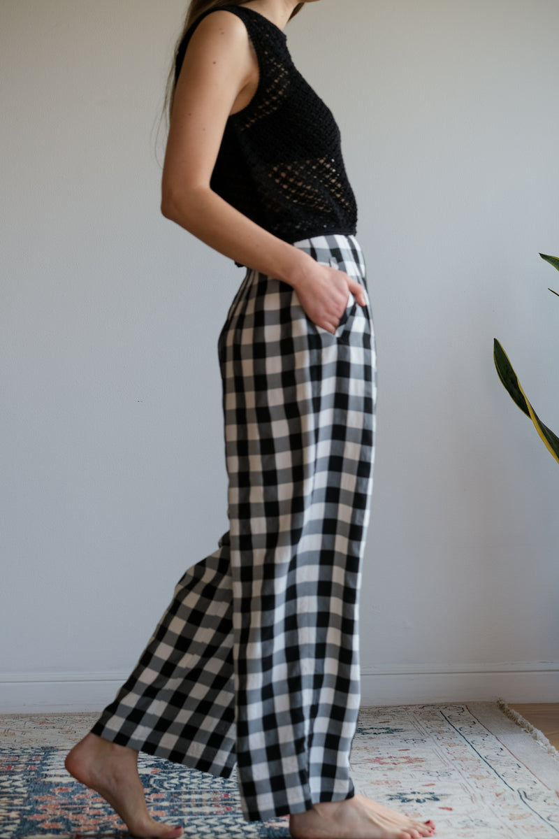 JACOB PANT IN LARGE GINGHAM