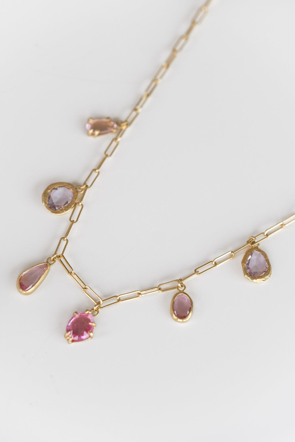 18K PINK SAPPHIRE OMBRE NECKLACE