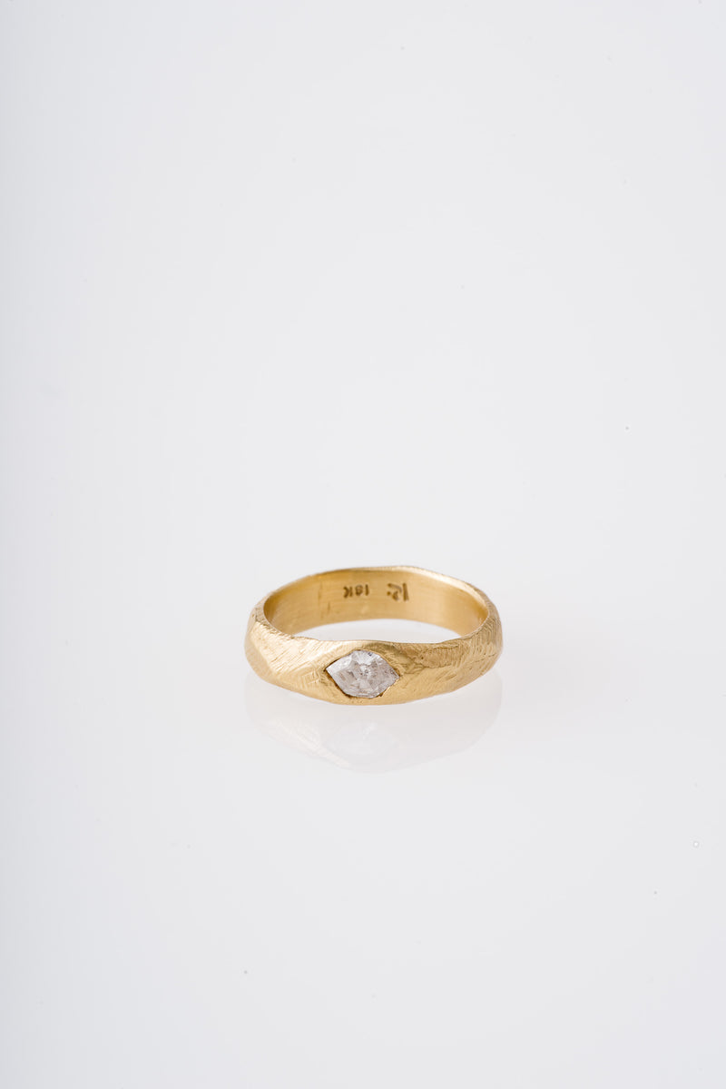 Page Sargisson | 18KT MARQUISE HAND CARVED RING