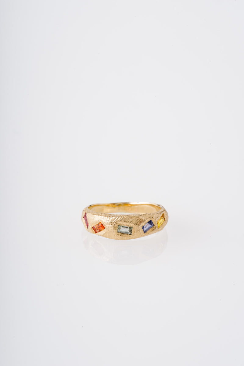Page Sargisson | 18KT RAINBOW SAPPHIRES RING