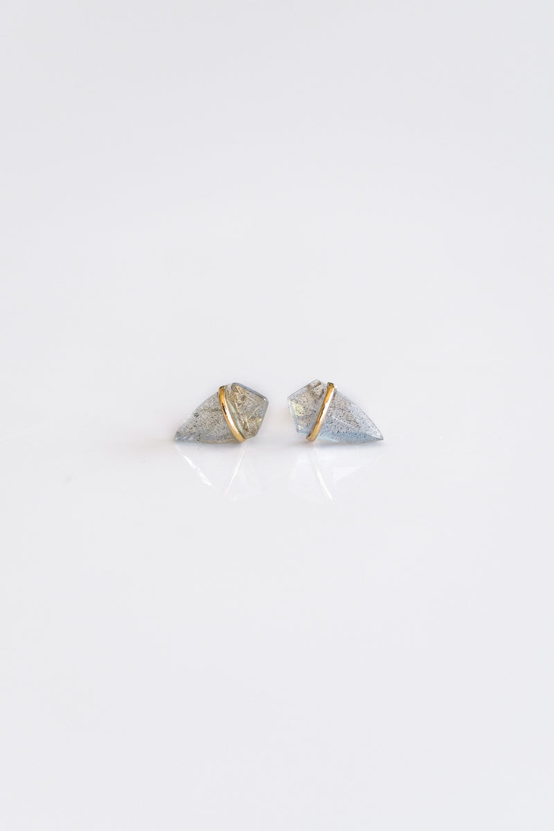 18K SMALL LABRADORITE KITE EARRINGS