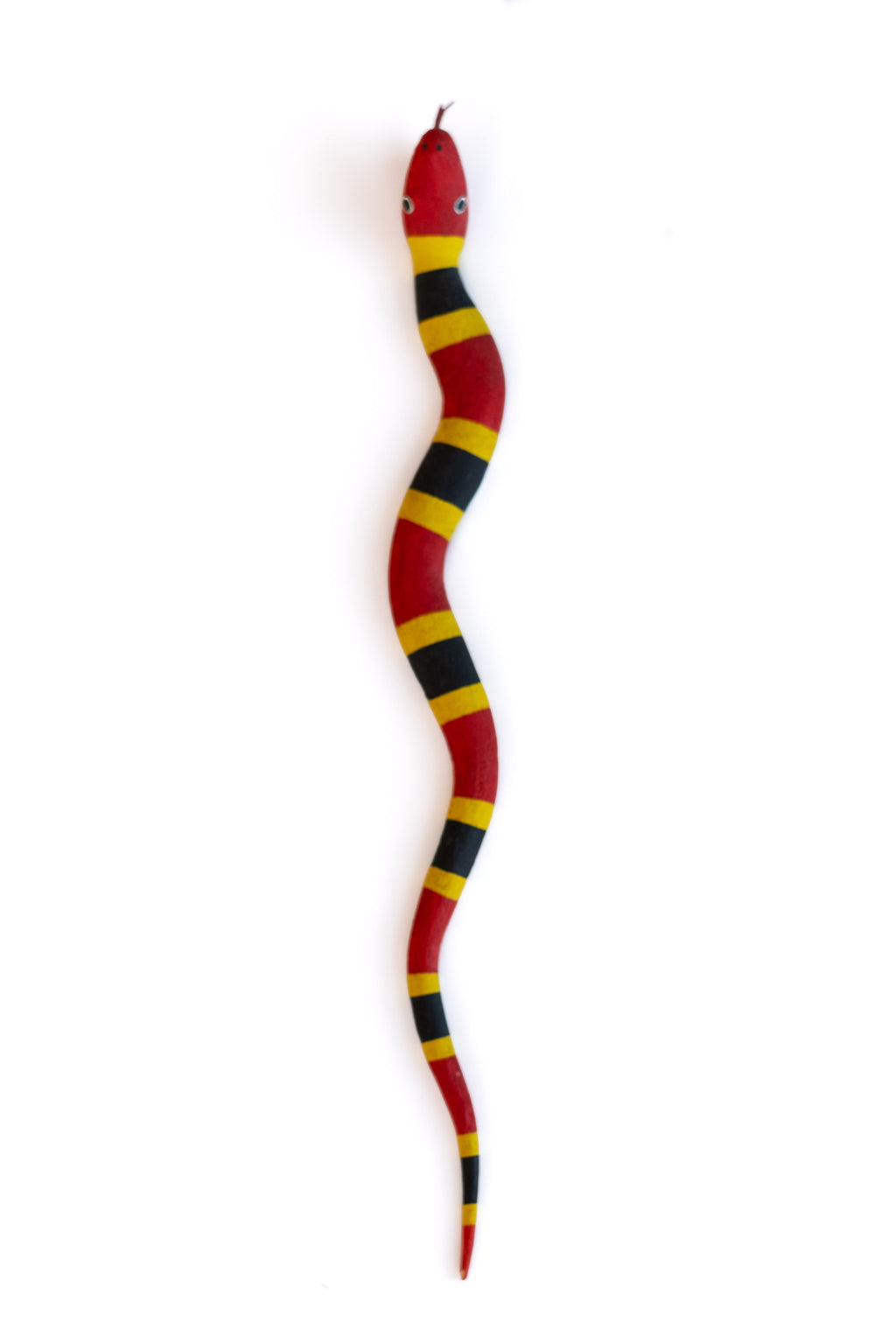 CARVED WOODEN SNAKE