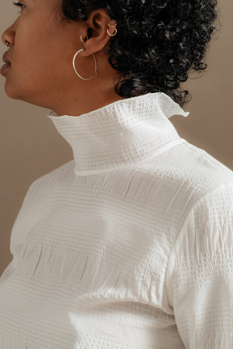 Rachel Comey | VARDA TOP IN OFF-WHITE PUCKER - Reliquary AW19