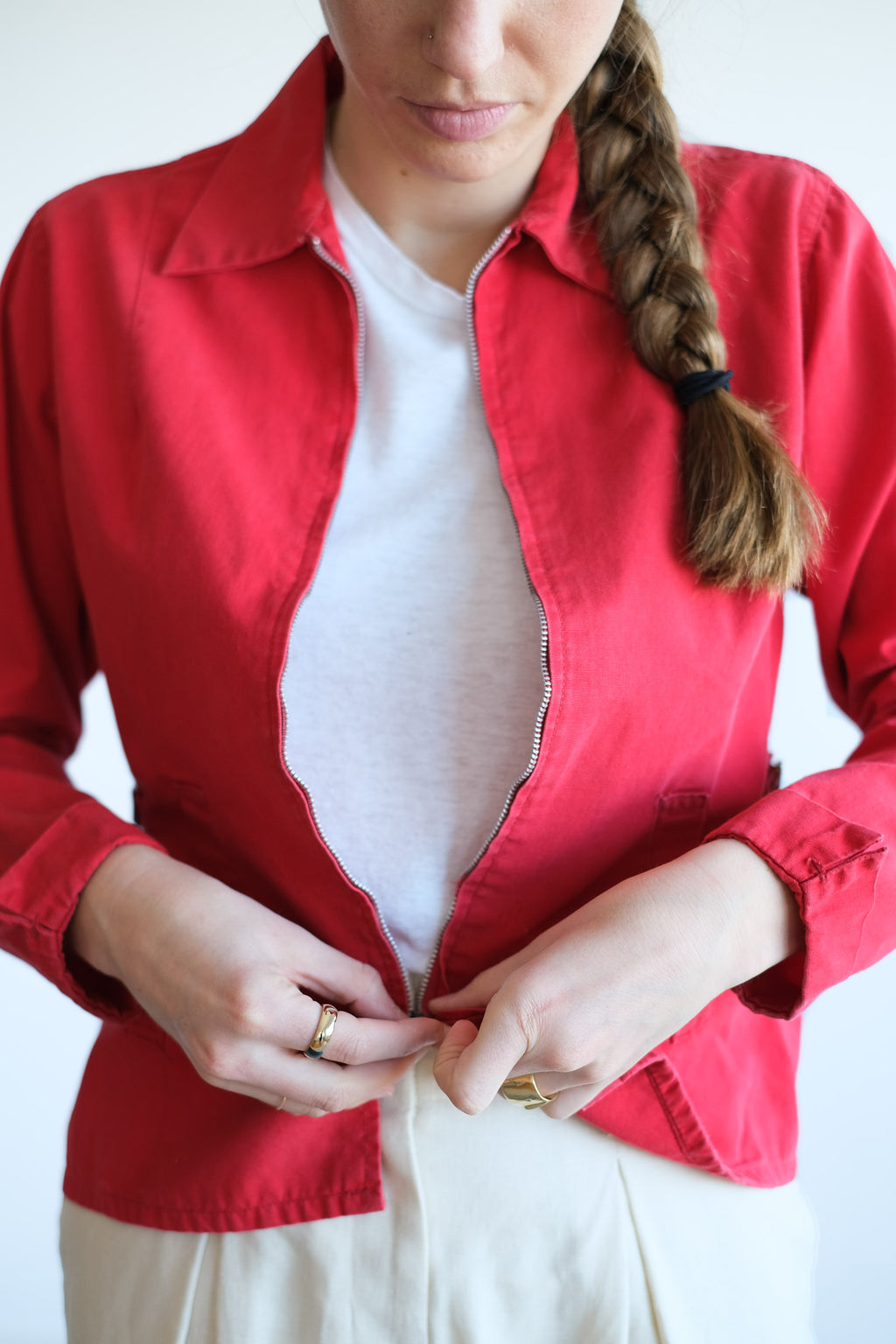 1950'S RED COTTON JACKET