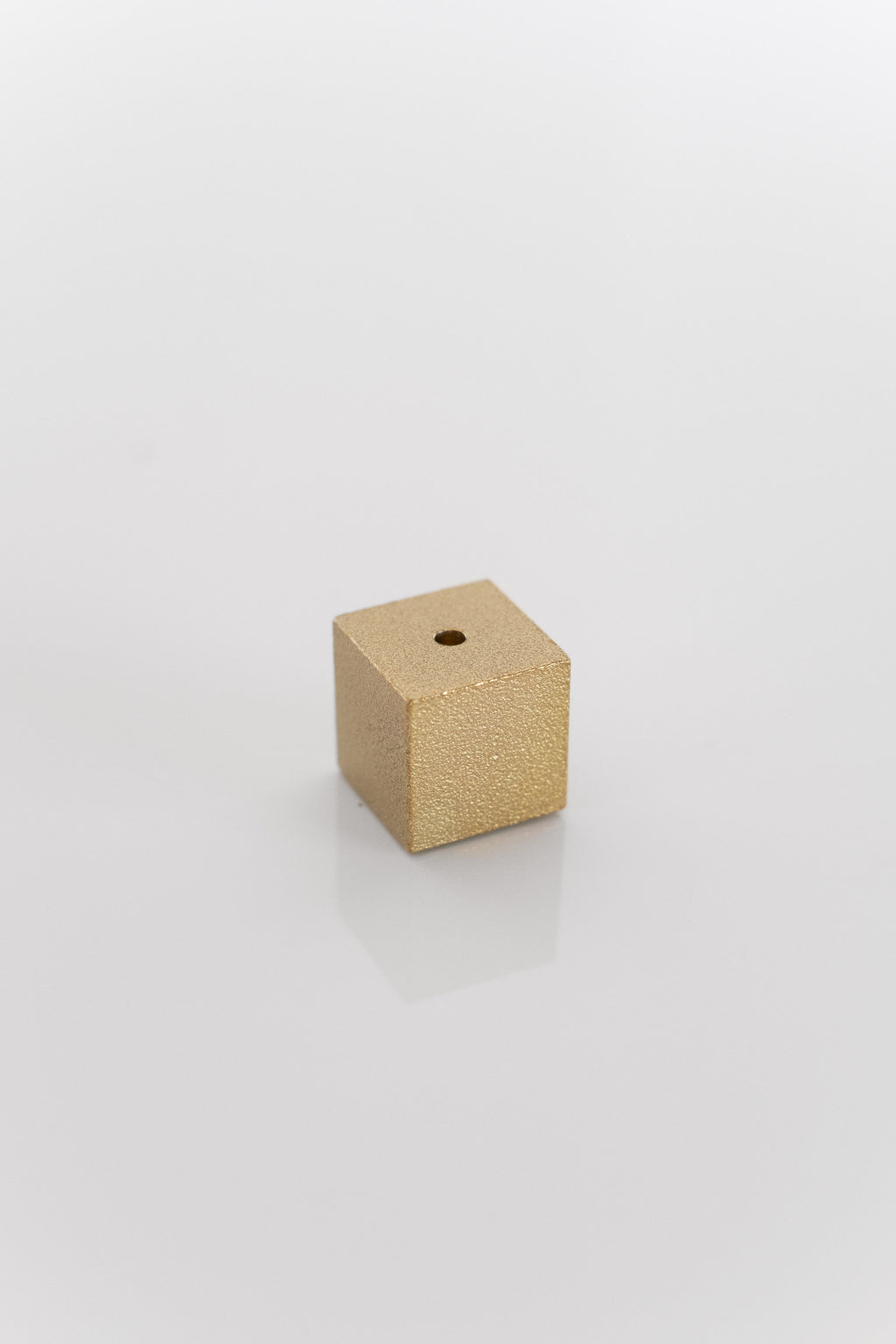 BRASS CUBE INCENSE HOLDER IN GOLD