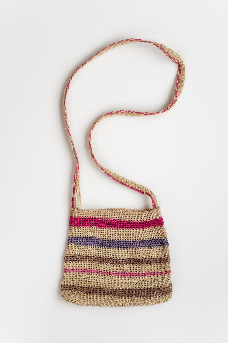 SMALL STRIPED NET BAG