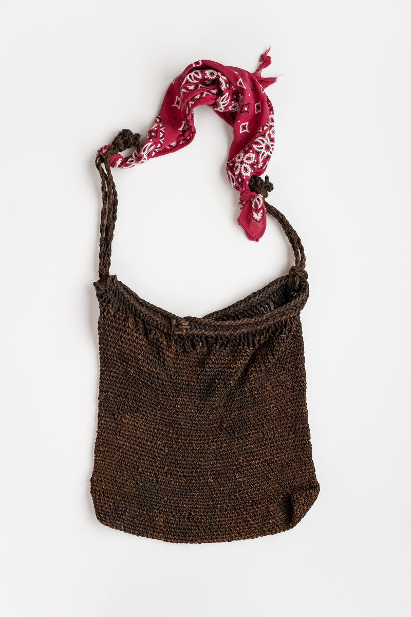 TIBETAN WOVEN JUTE BAG WITH BANDANA
