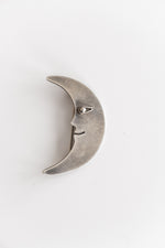 STERLING MOON PIN