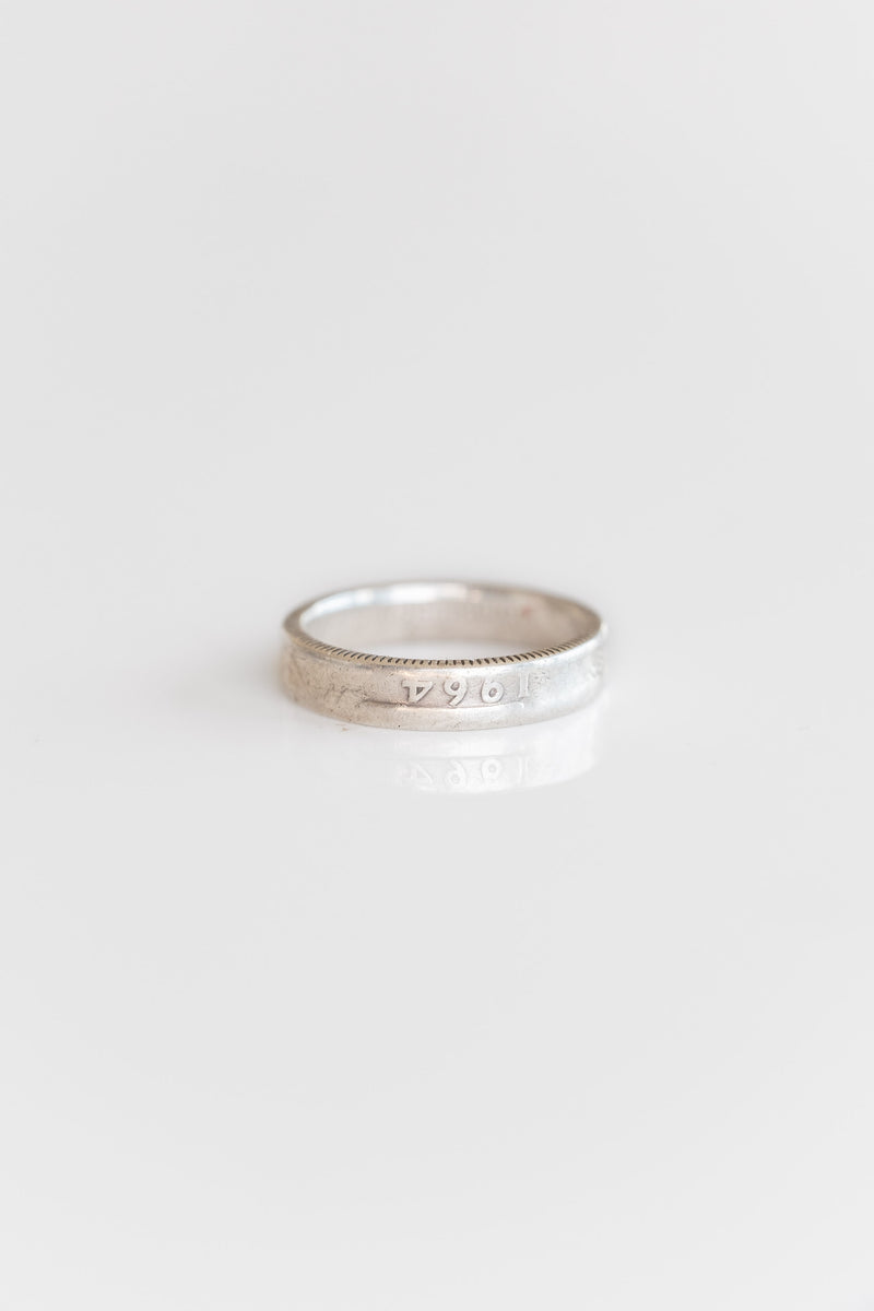 STERLING SILVER QUARTER DOLLAR RING