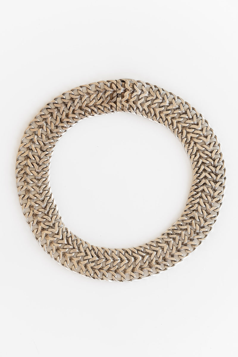 TAXCO SILVER WIDE CHAIN CHOKER