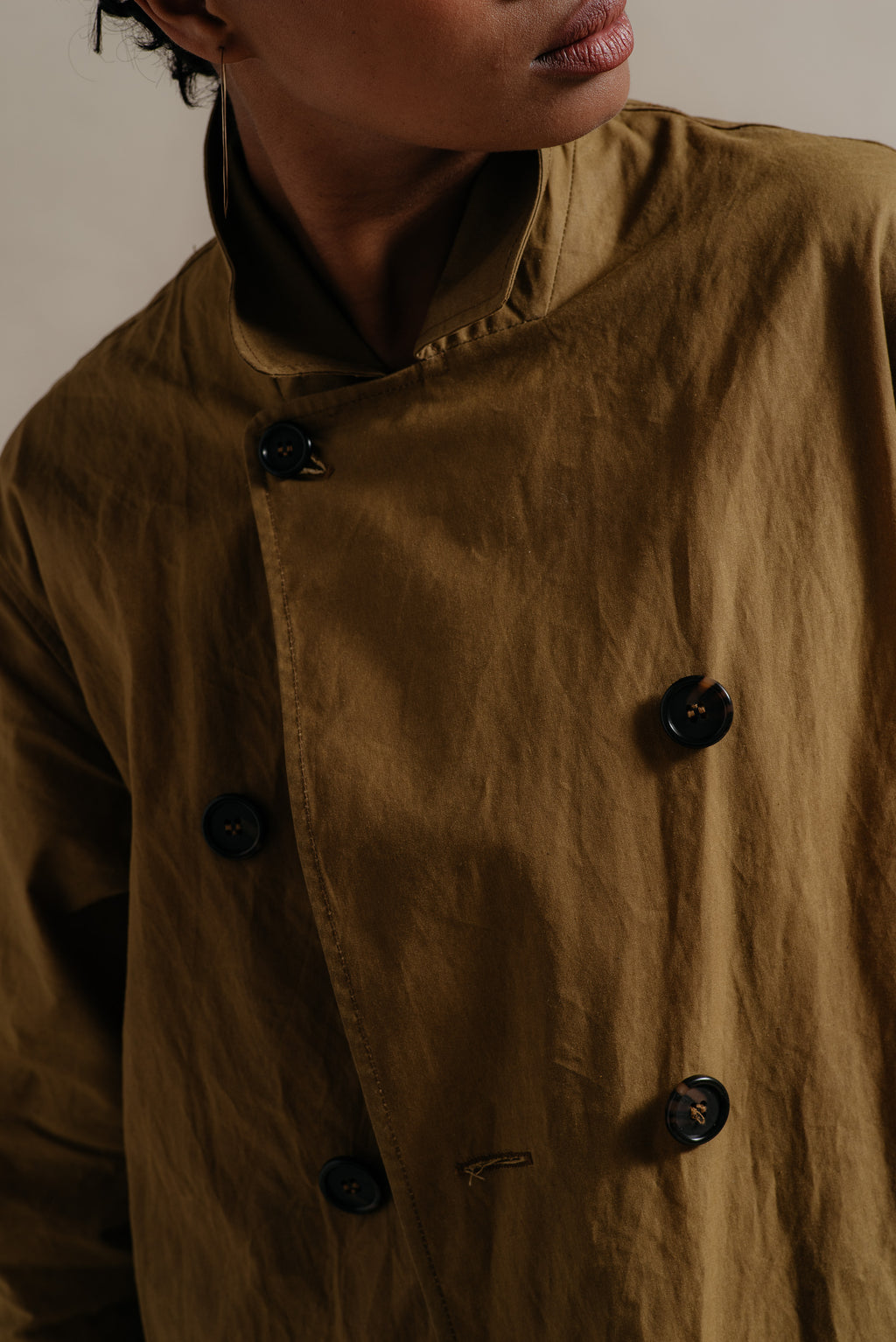 WAXED COTTON TRENCH