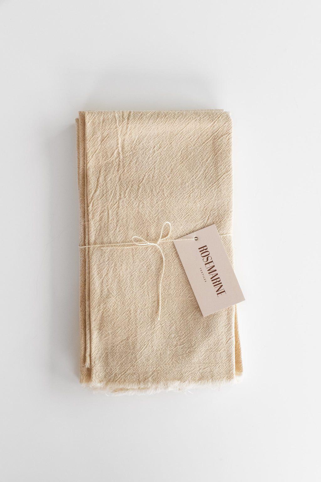 NATURALLY DYED COTTON GAUZE NAPKINS IN SAND