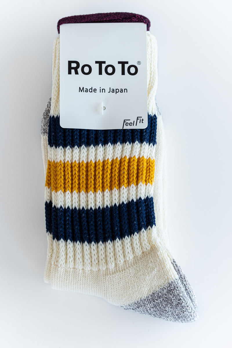 NAVY AND YELLOW OLD SCHOOL SOCKS