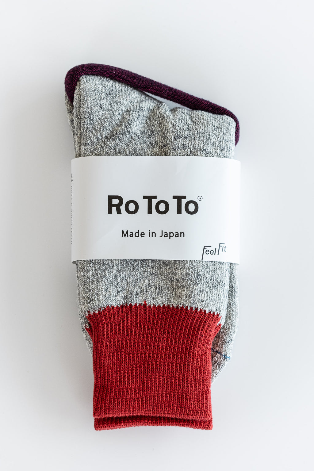 RED DOUBLE FACE SOCKS