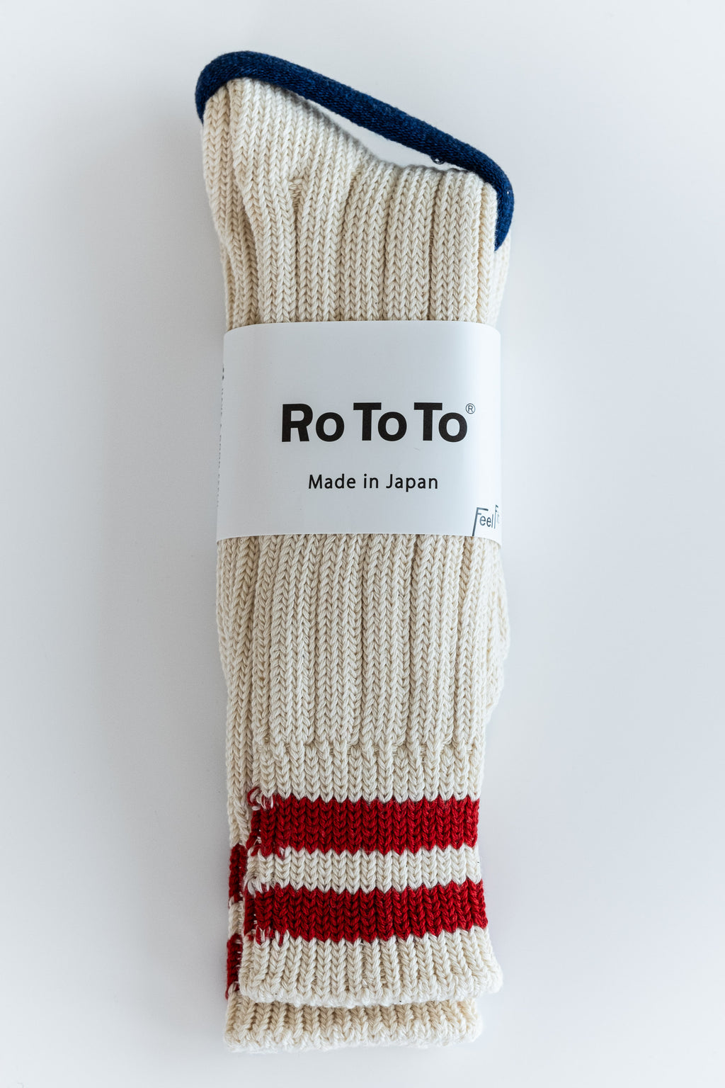 RED STRIPE LOW RAW SOCKS