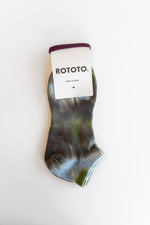 ORGANIC COTTON TIE DYE ANKLE SOCKS