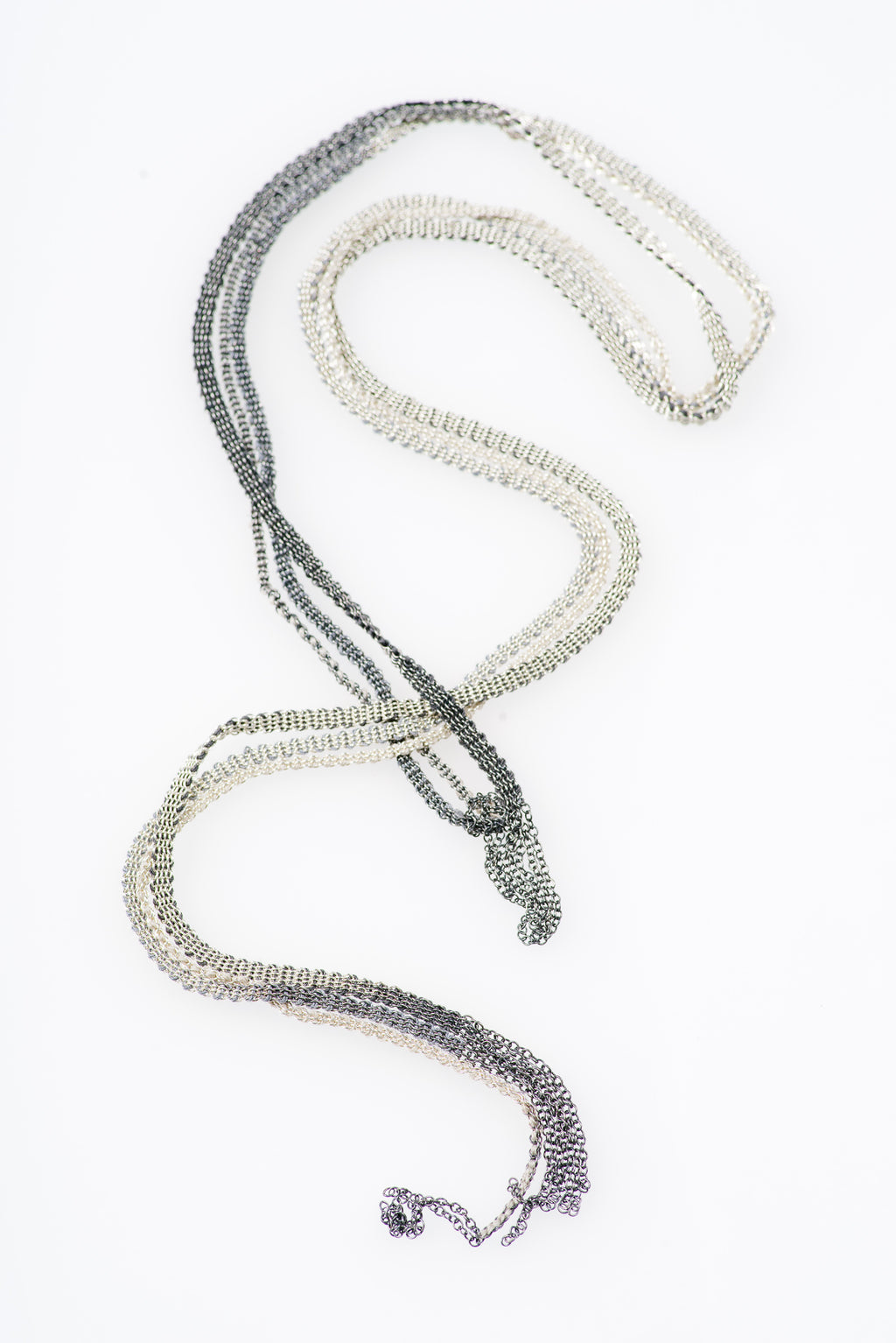 Stephanie Schneider | OXIDIZED SILVER AND BLACK MOHAIR LARIAT