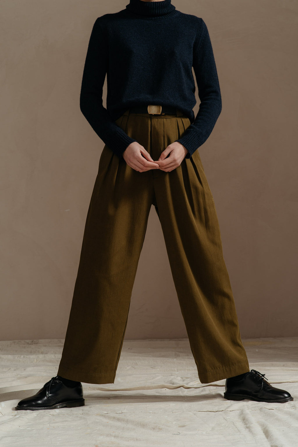 Reliquary-House-Line-OLIVE-PLEATED-PANT