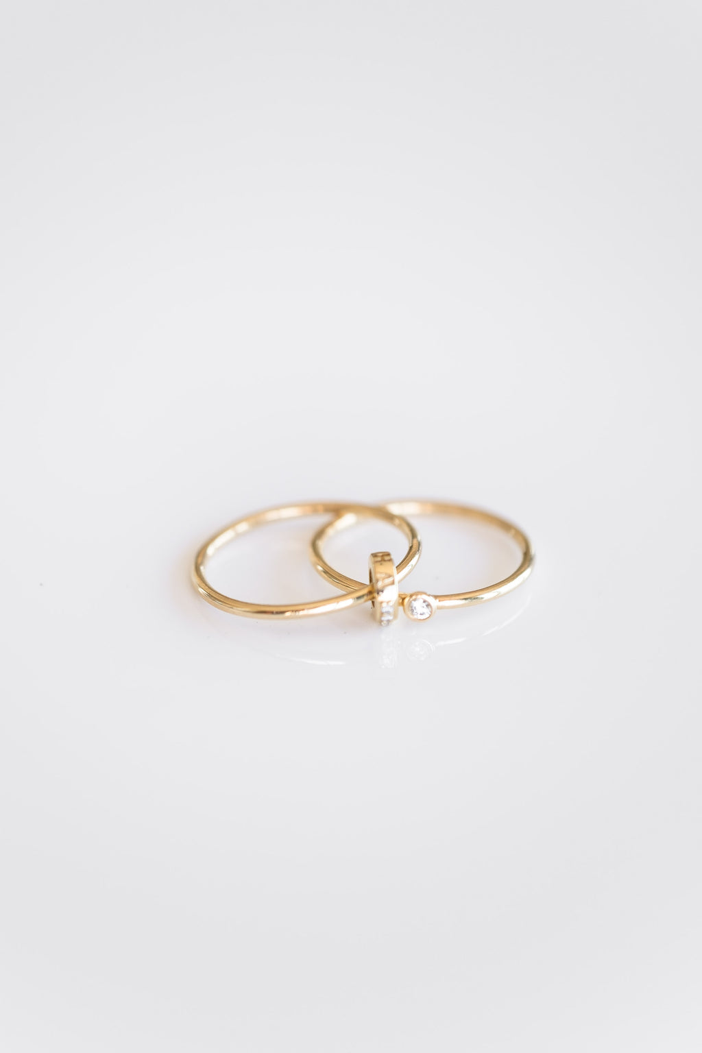 14K DIAMOND LINE RING