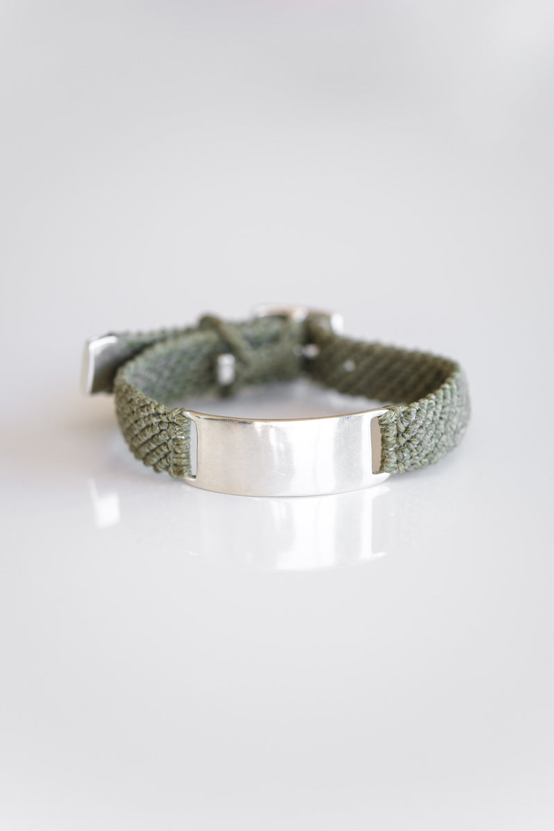 STERLING SILVER OLIVE BELT ID