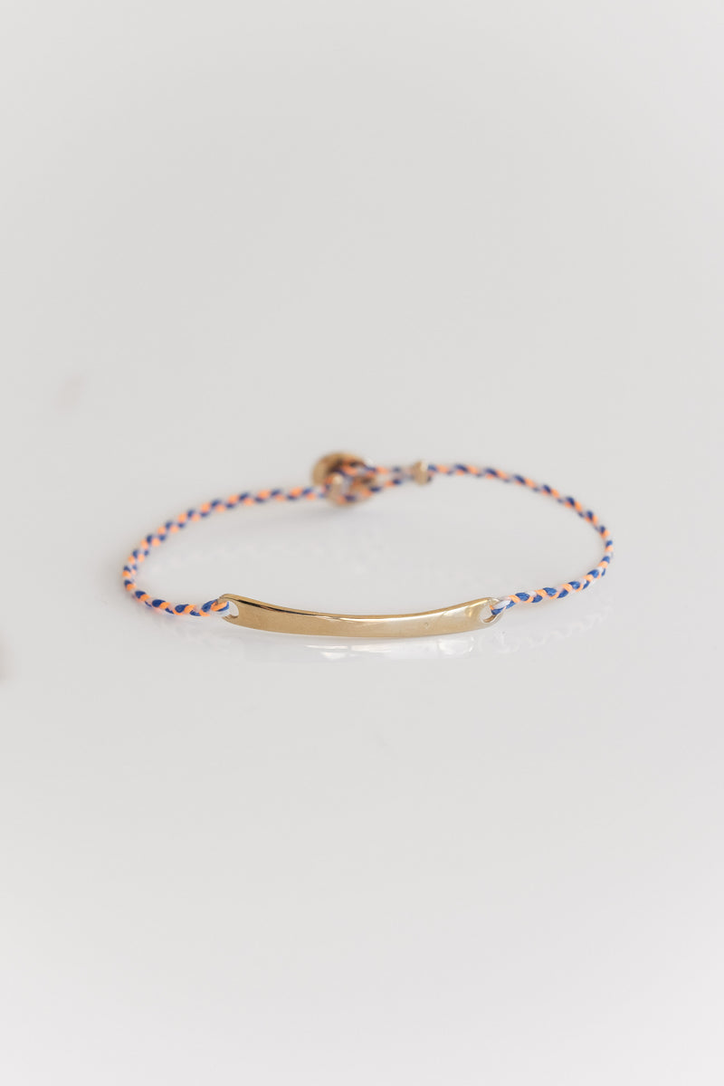 10K ID BRACELET IN PEACH + ROYAL