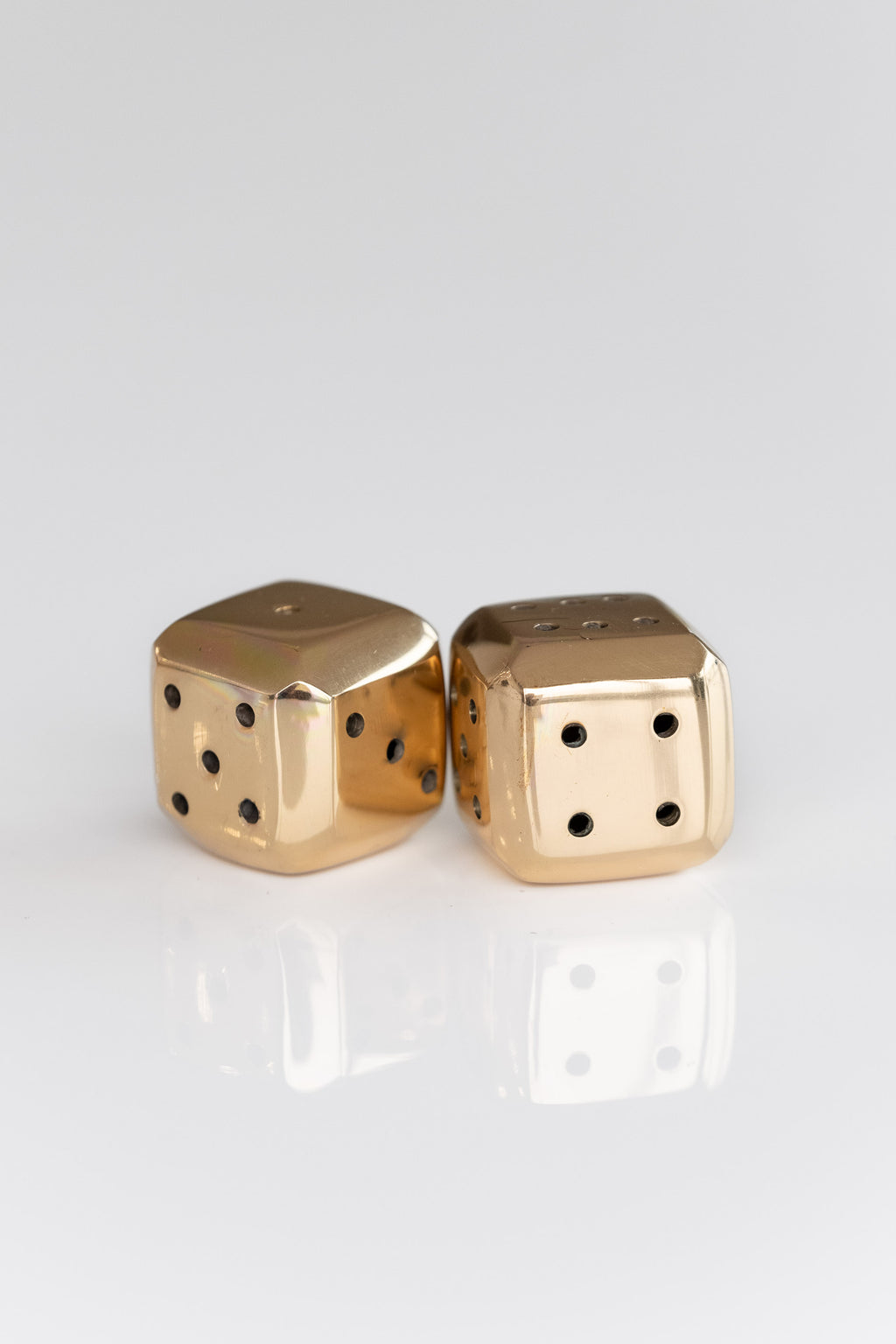 BRASS BEVELLED DICE