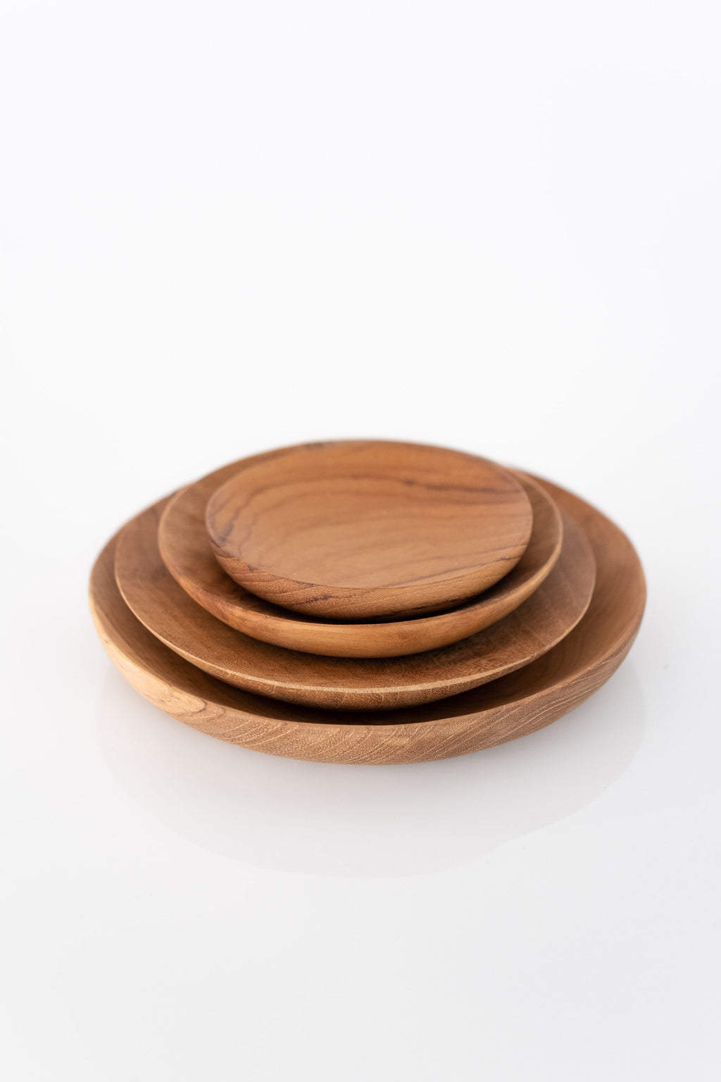 TEAK ROOT SHALLOW DISH SET