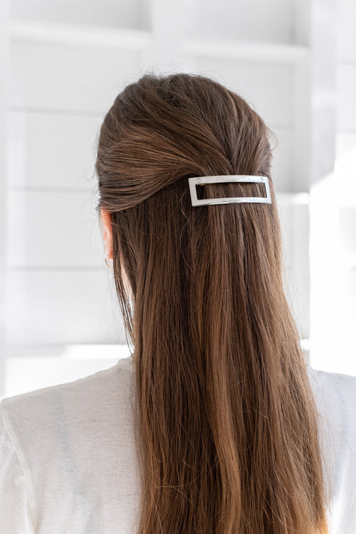 OPEN RECTANGLE BARRETTE