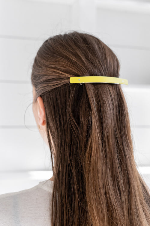 XL BARRETTE SHINY YELLOW