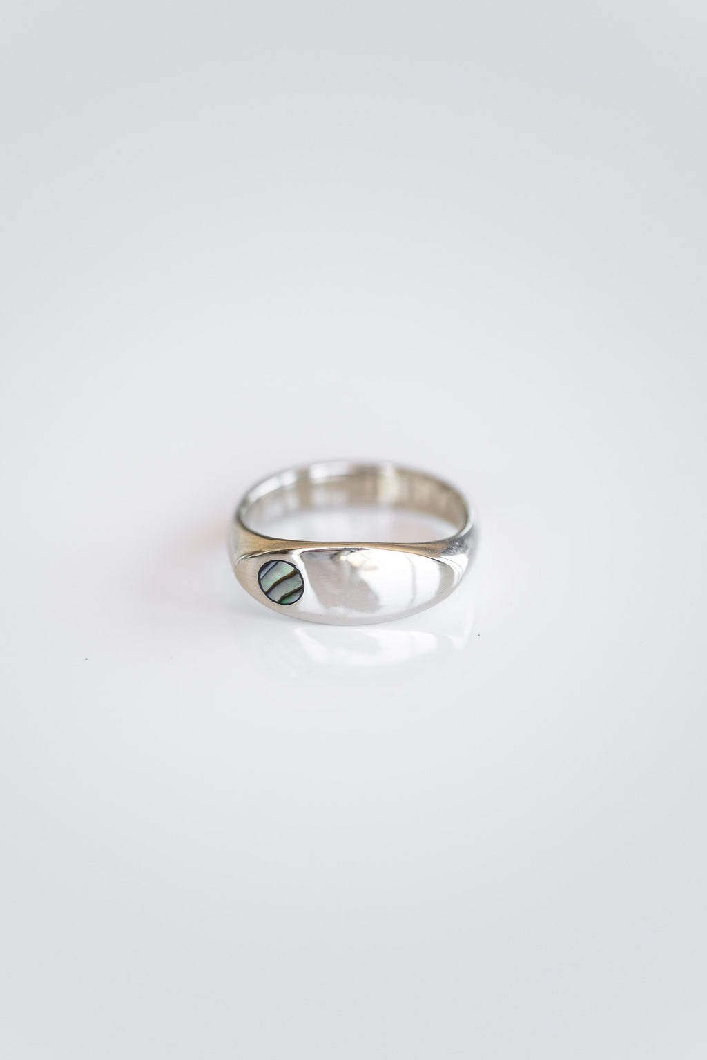 10K WHITE GOLD + ABALONE MARGAUX RING