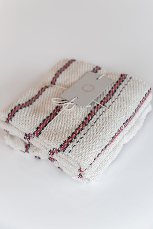 SET OF 3 COTTON CLOTHS IN STRIPE